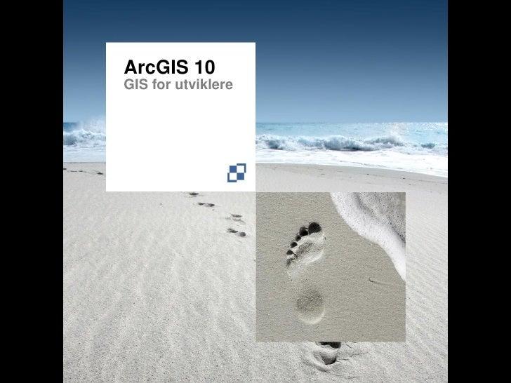 ArcGIS 10 GIS for utviklere