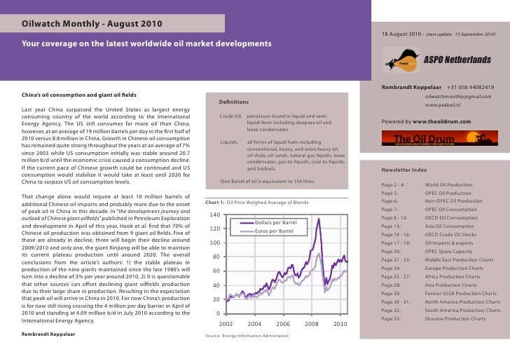 Oilwatch Monthly - August 2010                                                                                            ...