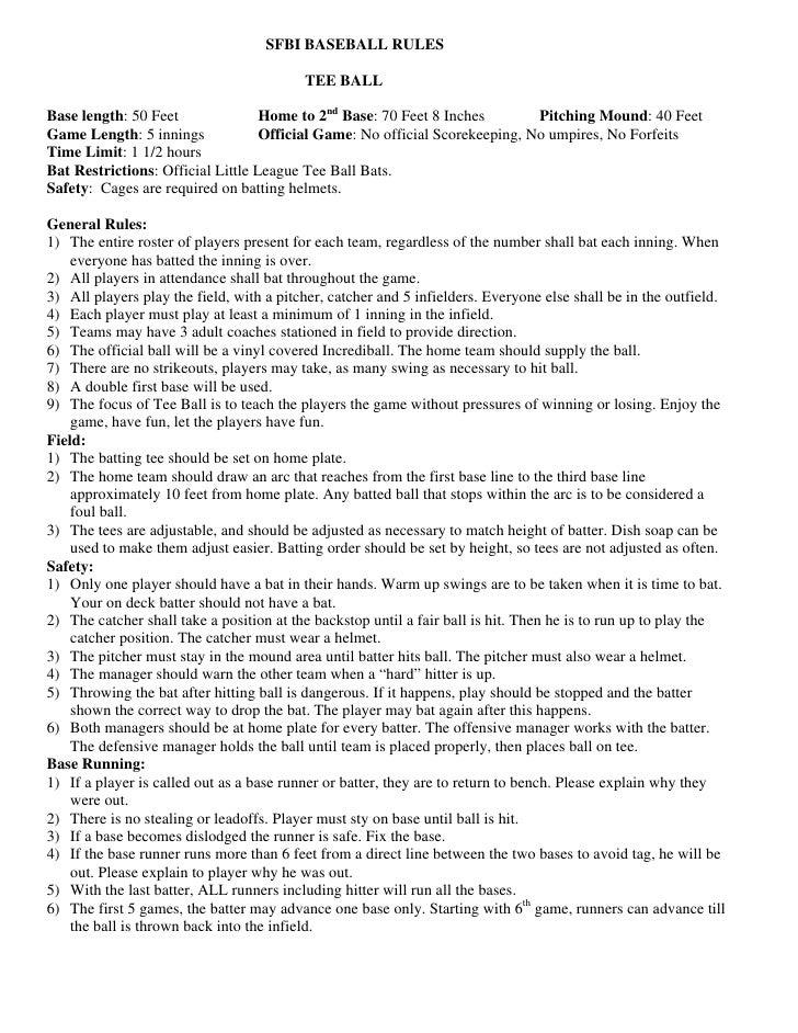 sfbi baseball rulebook 12 sfbi baseball
