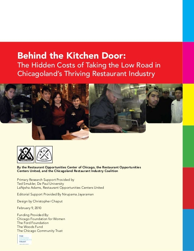 Behind the kitchen door: the hidden costs of taking the ...