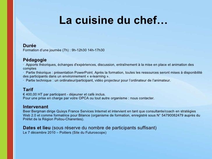 Formation Blogs Automne Poitiers Beer Bergman Pour Bilance - Cuisiner comme un chef poitiers