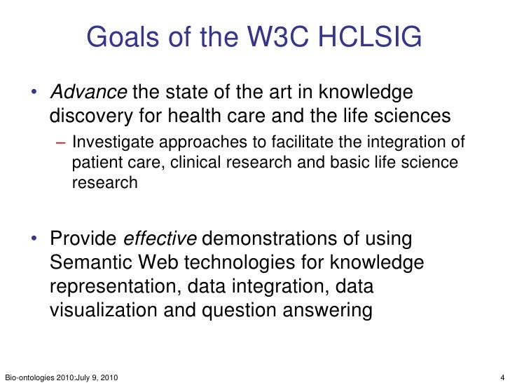 The Translational Medicine Ontology: Driving personalized      medicine by bridging the gap from bedside to benchside Slide 3