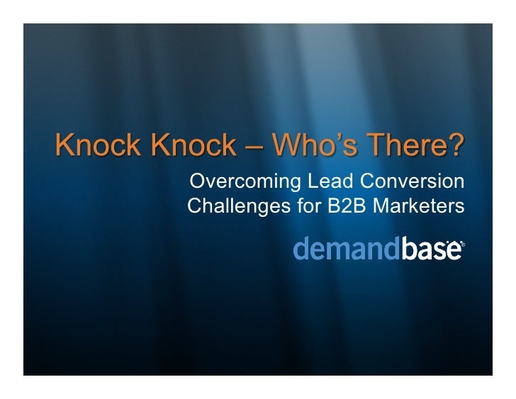 Overcoming Lead Conversion Challenges for B2B Marketers                           …
