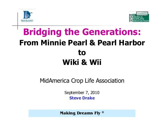 Making Dreams Fly ® Bridging the Generations: From Minnie Pearl & Pearl Harbor to Wiki & Wii MidAmerica Crop Life Associat...