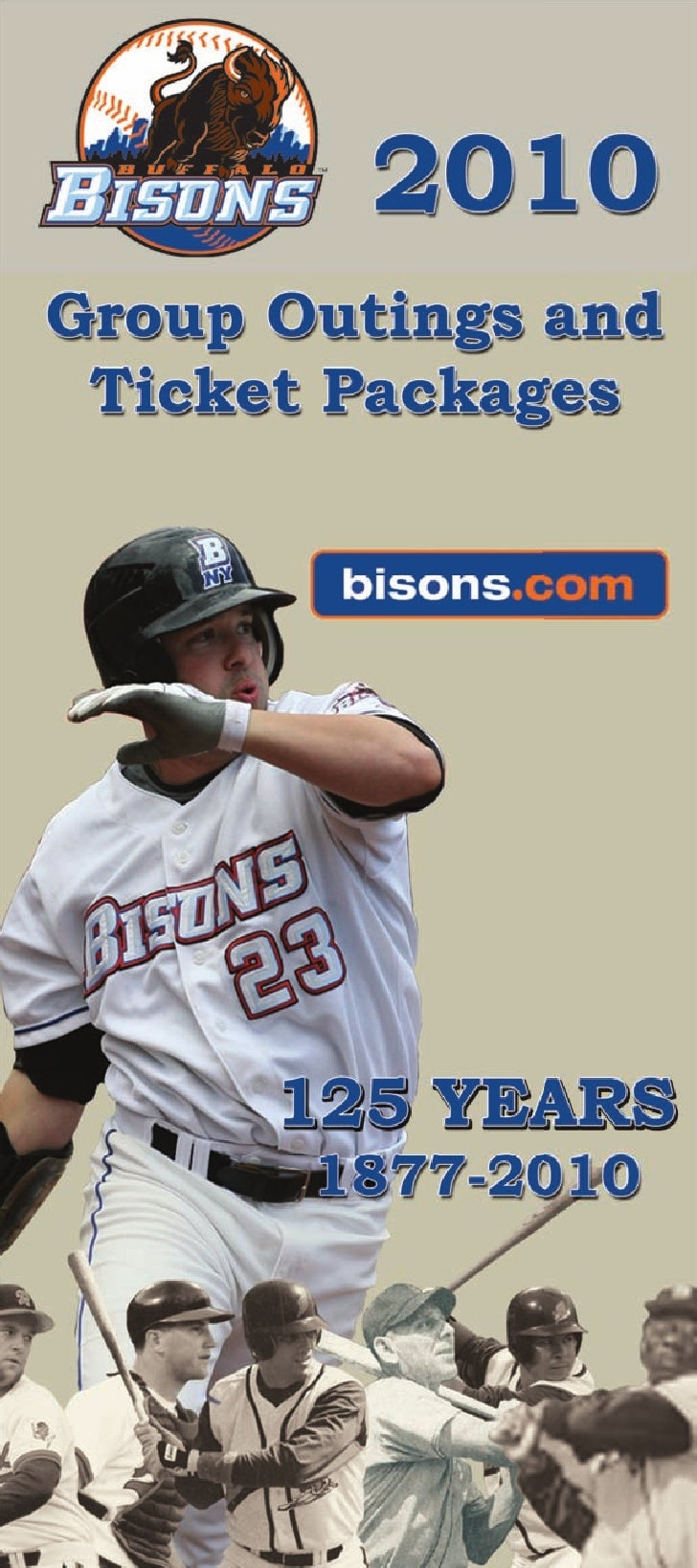 Spend the spring and summer months with the Bisons! Season tickets provide a discounted way to attend all 72 games. This p...