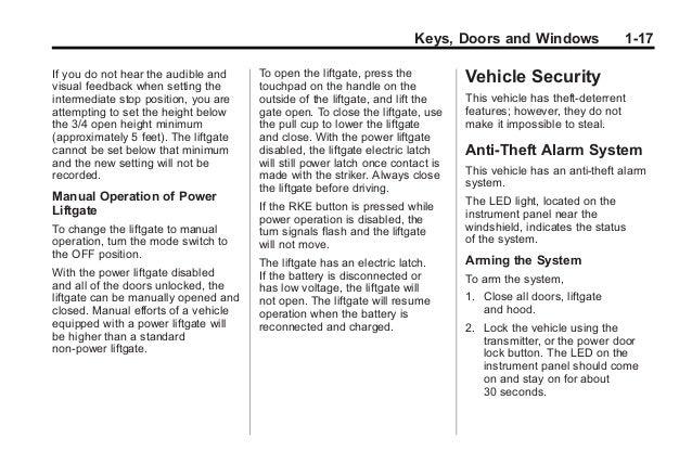 2010 Cadillac SRX Owners Manual