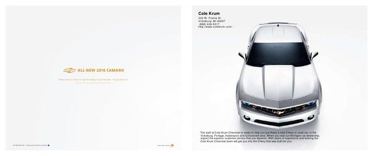 2010 Chevrolet Camaro Cole Krum Kalamazoo MI