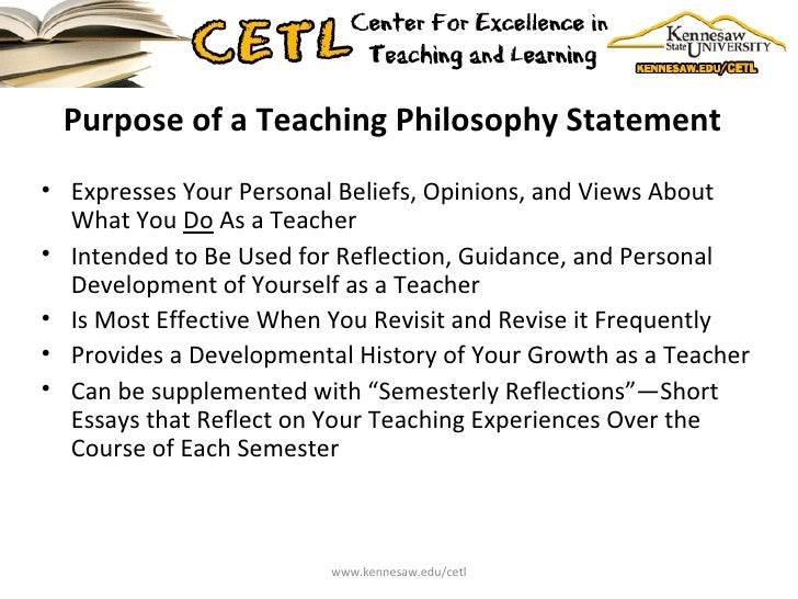 Essays about teaching philosophy