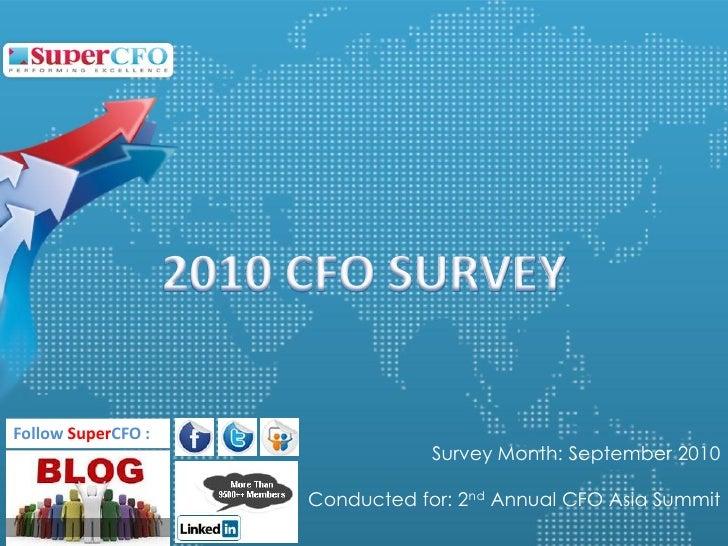 2010 CFO Survey Report (by SuperCFO)