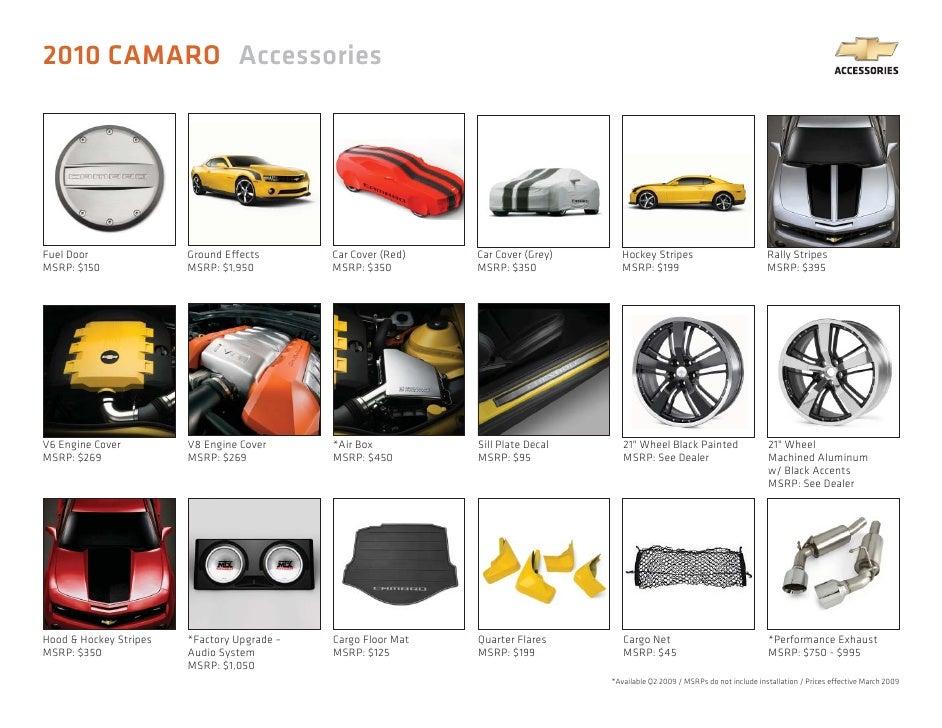 2010 Chevrolet Camaro Accessories Brochure