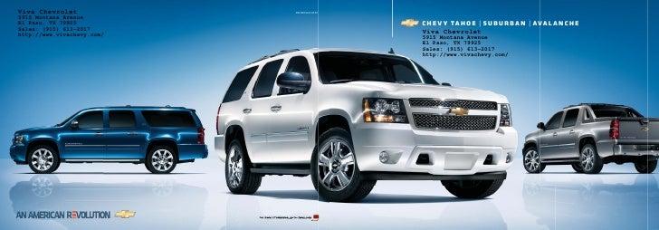 Viva Chevrolet              09CHESUVCAT01 5915 Montana Avenue El Paso, TX 79925                           ���� � ����� | �...