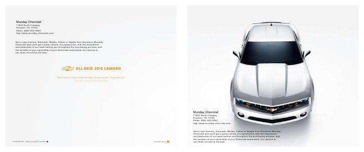 Munday Chevrolet 17800 North Freeway Houston, TX 77090 Sales: (888) 600  ...
