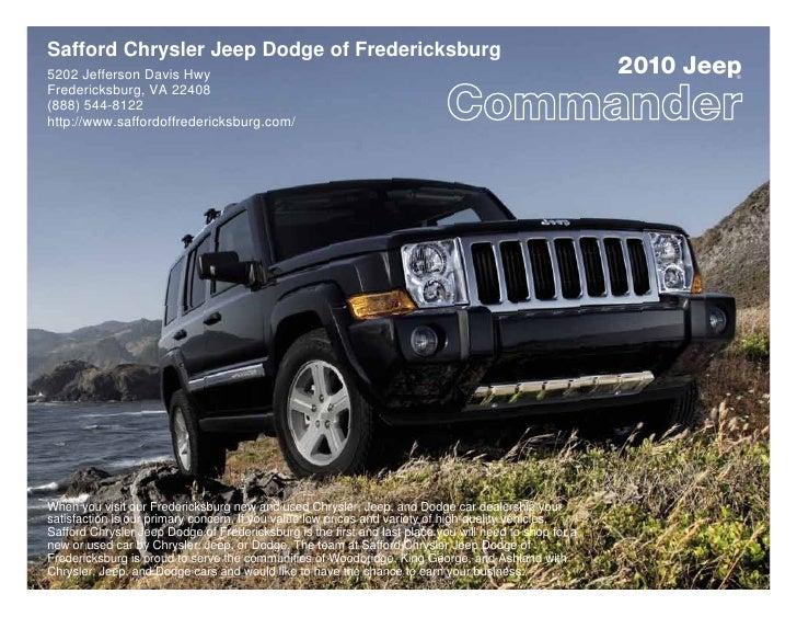 Safford Chrysler Jeep Dodge of Fredericksburg 5202 Jefferson Davis Hwy                                                    ...