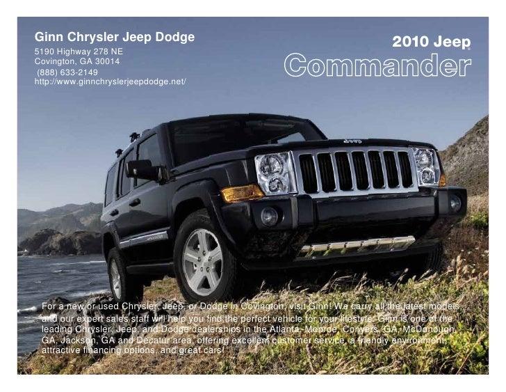 Ginn Chrysler Jeep Dodge                                                               2010 Jeep            ® 5190 Highway...