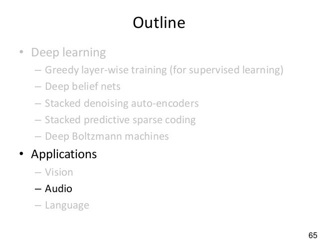 2010 deep learning and unsupervised feature learning