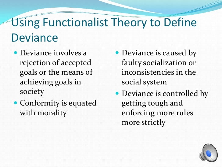 the defense of deviance through defining social norm Deviance varies according to cultural norms no thought or action is inherently from soc 100 at bradley both norms and the way people define rule-breaking involve social power deviance encourages social change.