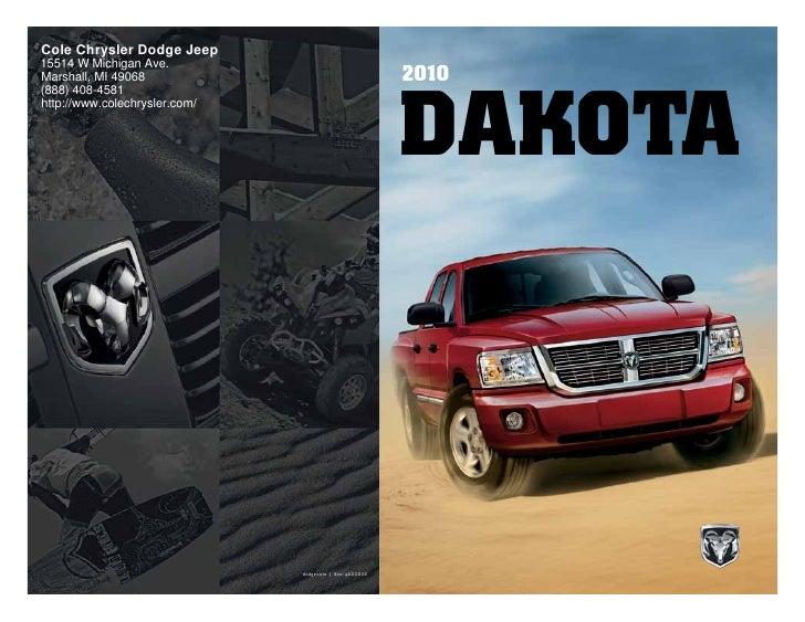 2010 dodge dakota cole chrysler dodge jeep marshall mi rh slideshare net