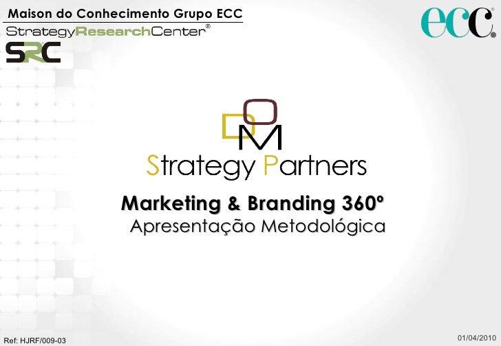 01/04/2010 Marketing & Branding 360º  Apresentação Metodológica Maison do Conhecimento Grupo ECC   Ref: HJRF/009-03
