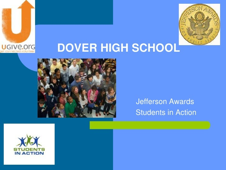 DOVER HIGH SCHOOL              Jefferson Awards           Students in Action