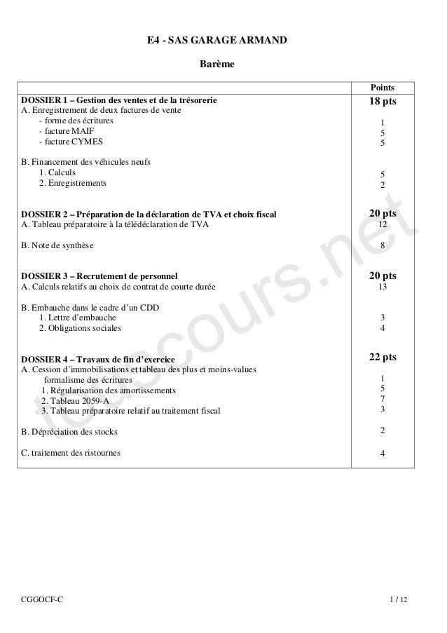 E4 - SAS GARAGE ARMAND                                                  Barème                                            ...