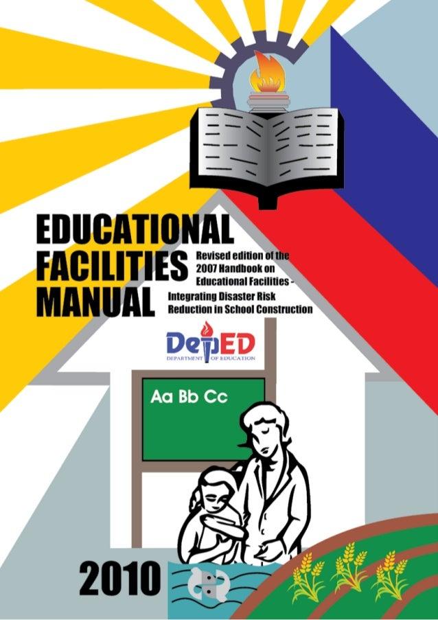 2010 educational facilities manual rh slideshare net deped educational facilities manual 2007 deped educational facilities manual 2013