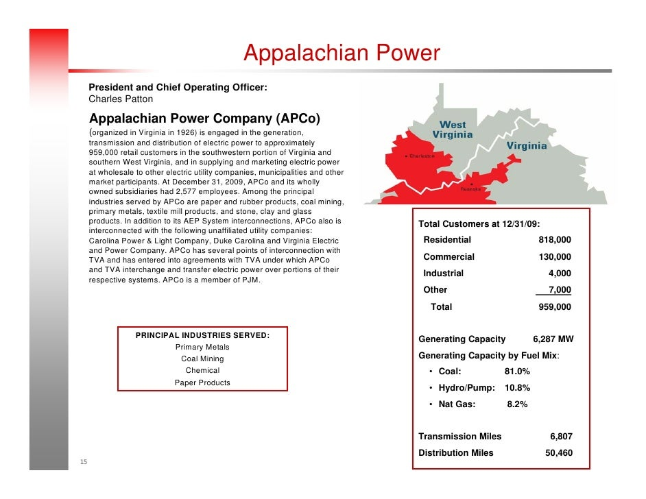2010 aep fact book appalachian power