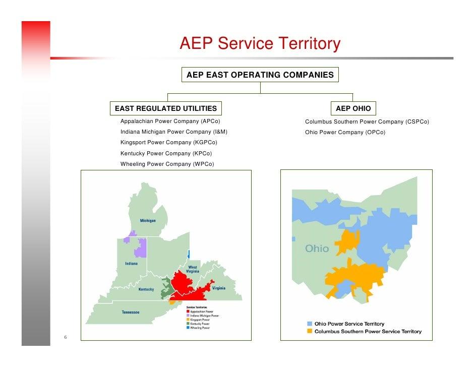 AEP Service Territory AEP EAST OPERATING COMPANIES ...