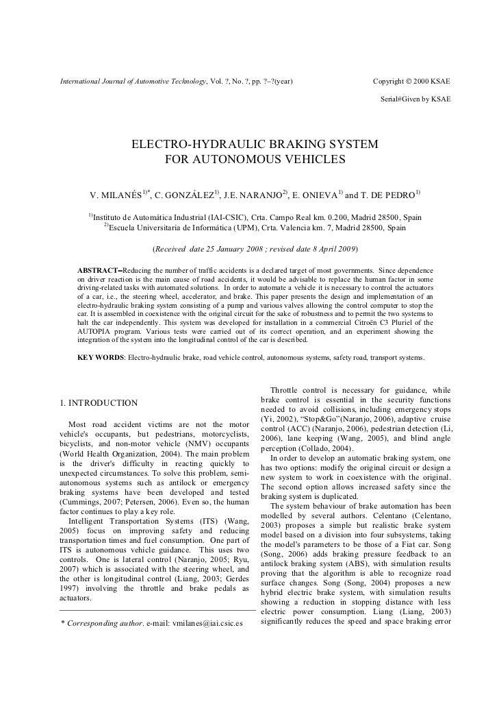 International Journal of Automotive Technology, Vol. ?, No. ?, pp. ?−?(year)                             Copyright © 2000 ...