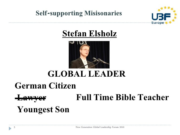 Seminar 104: World mission through Self-supporting