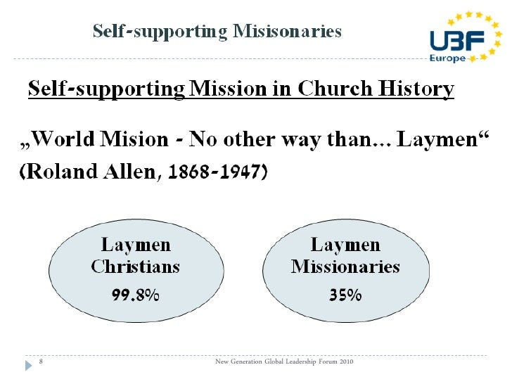 Seminar 104: World mission through Self-supporting missionaries and h…