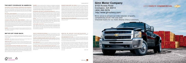 10CHECOMCAT01             Ginn Motor Company the best coverage in america.                                                ...