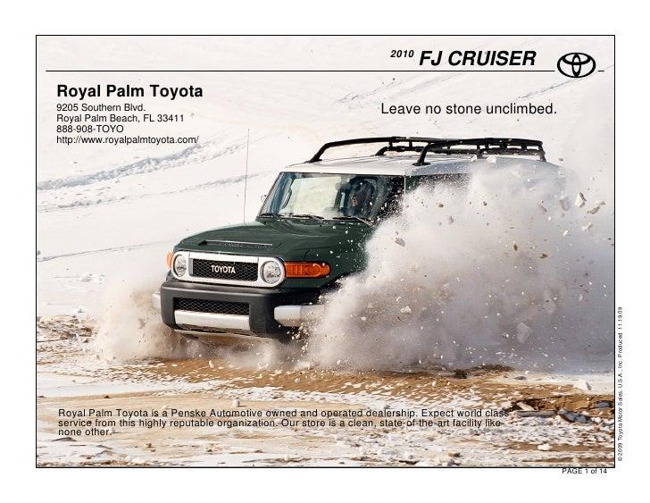2010                                                                                  FJ CRUISER Royal Palm Toyota 9205 So...