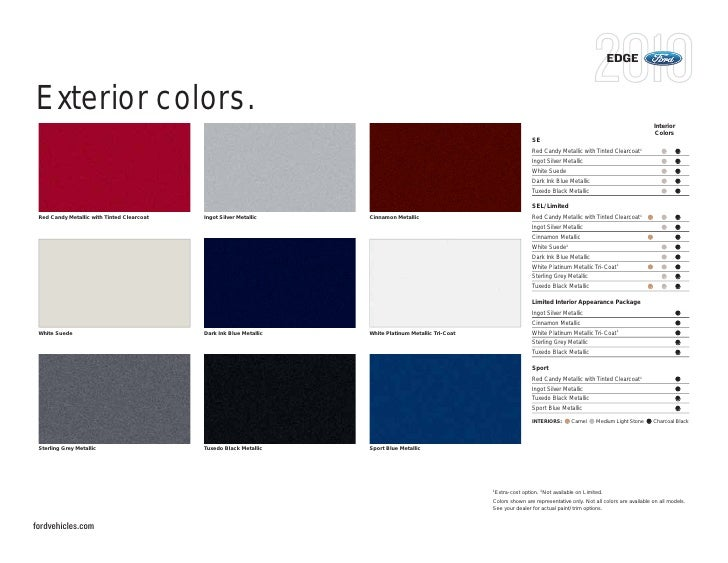 Edge Exterior Colors