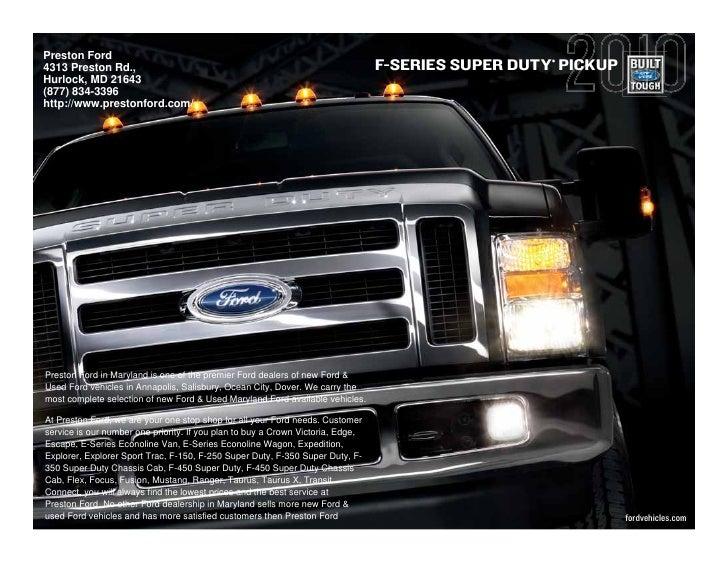 Preston Ford                                                                                       ® 4313 Preston Rd.,    ...