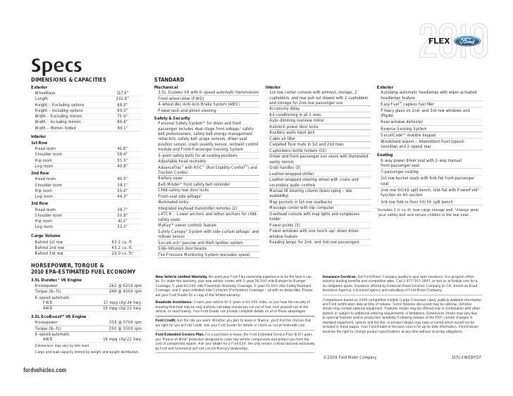 Ford Flex Interior Dimensions Psoriasisguru Com