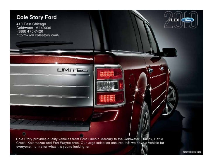 2010 Ford Flex Cole Story Ford Kalamazoo MI