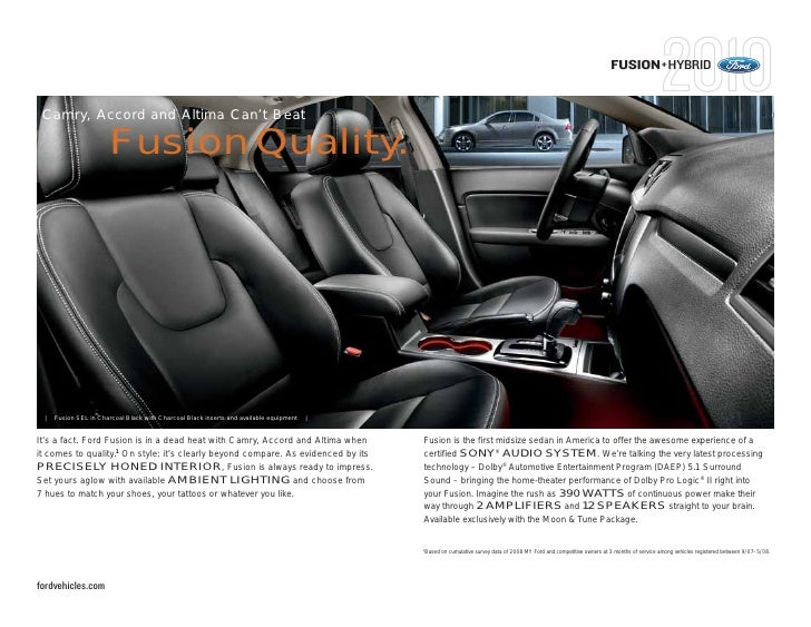 2010 ford fusion annapolis. Black Bedroom Furniture Sets. Home Design Ideas