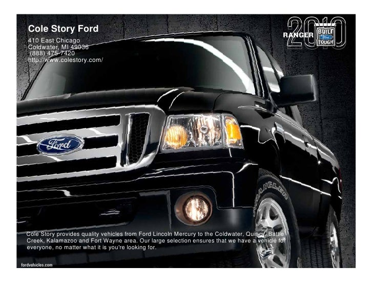 Cole Story Ford                                                                                                RANGER    4...
