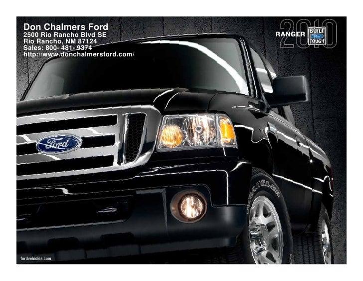 2010 Don Chalmers Ford Ranger Albuquerque NM