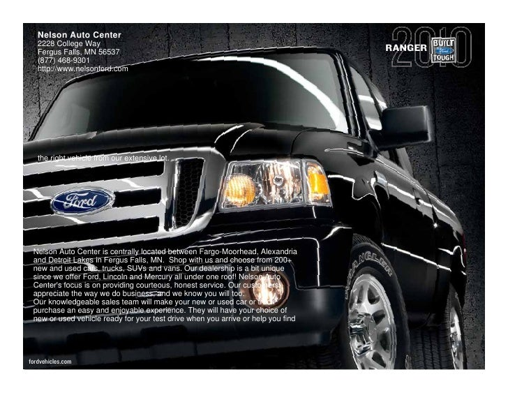 2010 ford ranger nelson auto center fergus falls mn. Black Bedroom Furniture Sets. Home Design Ideas