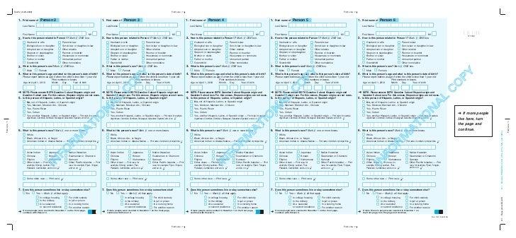 US Census 2010 Form Slide 2