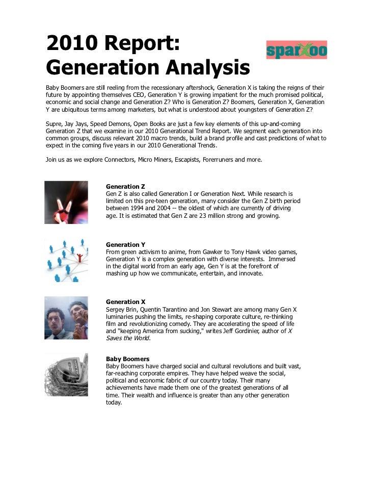 2010 Generation Trend Report Slide 2
