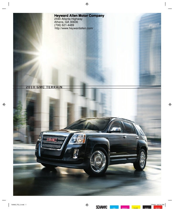 Heyward Allen Gmc >> 2010 Gmc Terrain Brochure Heyward Allen Motor Company