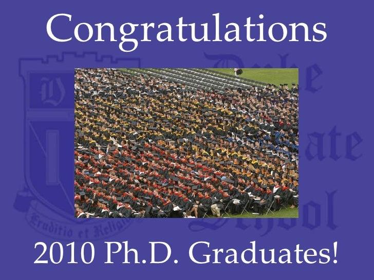 Congratulations 2010 Ph.D. Graduates!