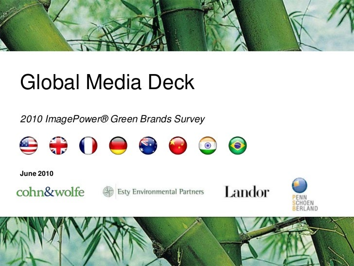 Global Media Deck<br />2010 ImagePower® Green Brands Survey <br />June2010<br />
