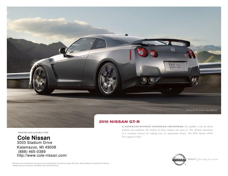 Captivating ... Cole Nissan Kalamazoo MI. Nissan GT R Shown In Gun Metallic. ...