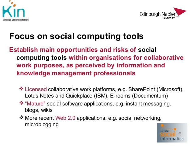 social computing and tools for collaboration Find the best team collaboration software using real-time, up-to-date data from over 20440 verified user reviews vendor size, and social impact.