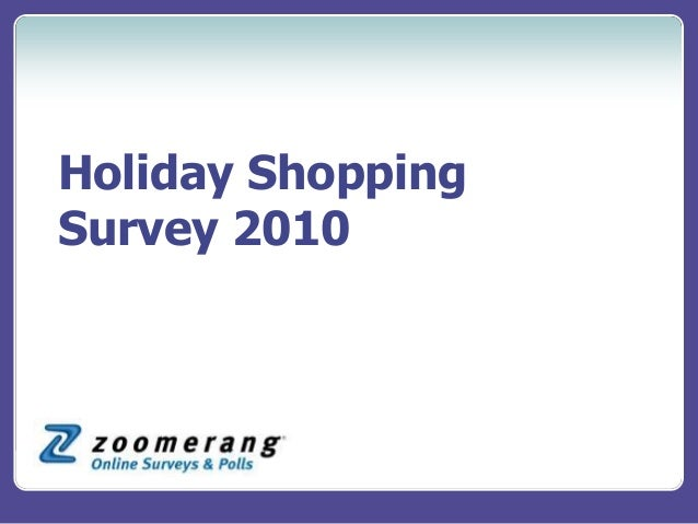 Holiday Shopping Survey 2010
