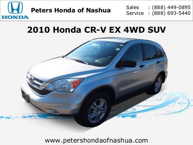 Used 2010 Honda CR-V - Nashua NH Honda Dealer