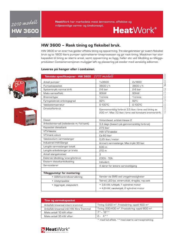 Heatwork HW 3600